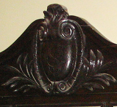 Closeup of antique picture frame